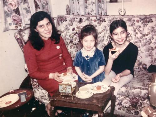 Mum, Gaynor and me